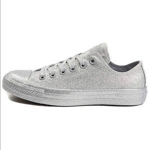 NEW silver glitter sneakers